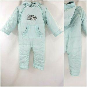 Nike 24M Mint Blue Spellout Snow Suit